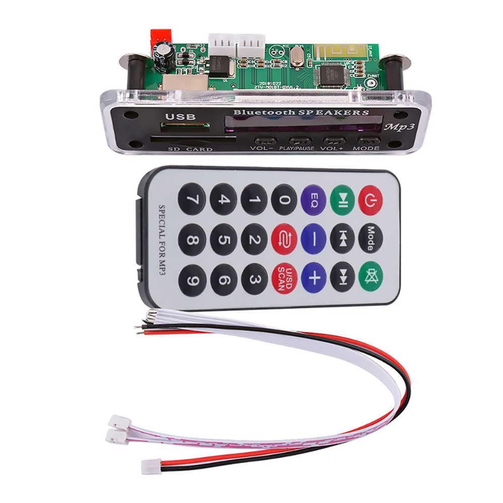 Metallo multifunzionale Auto Altoparlante Modulo Radio FM SD Card USB Senza Fili di Bluetooth 5.0 MP3 Lettore Scheda di Decodifica
