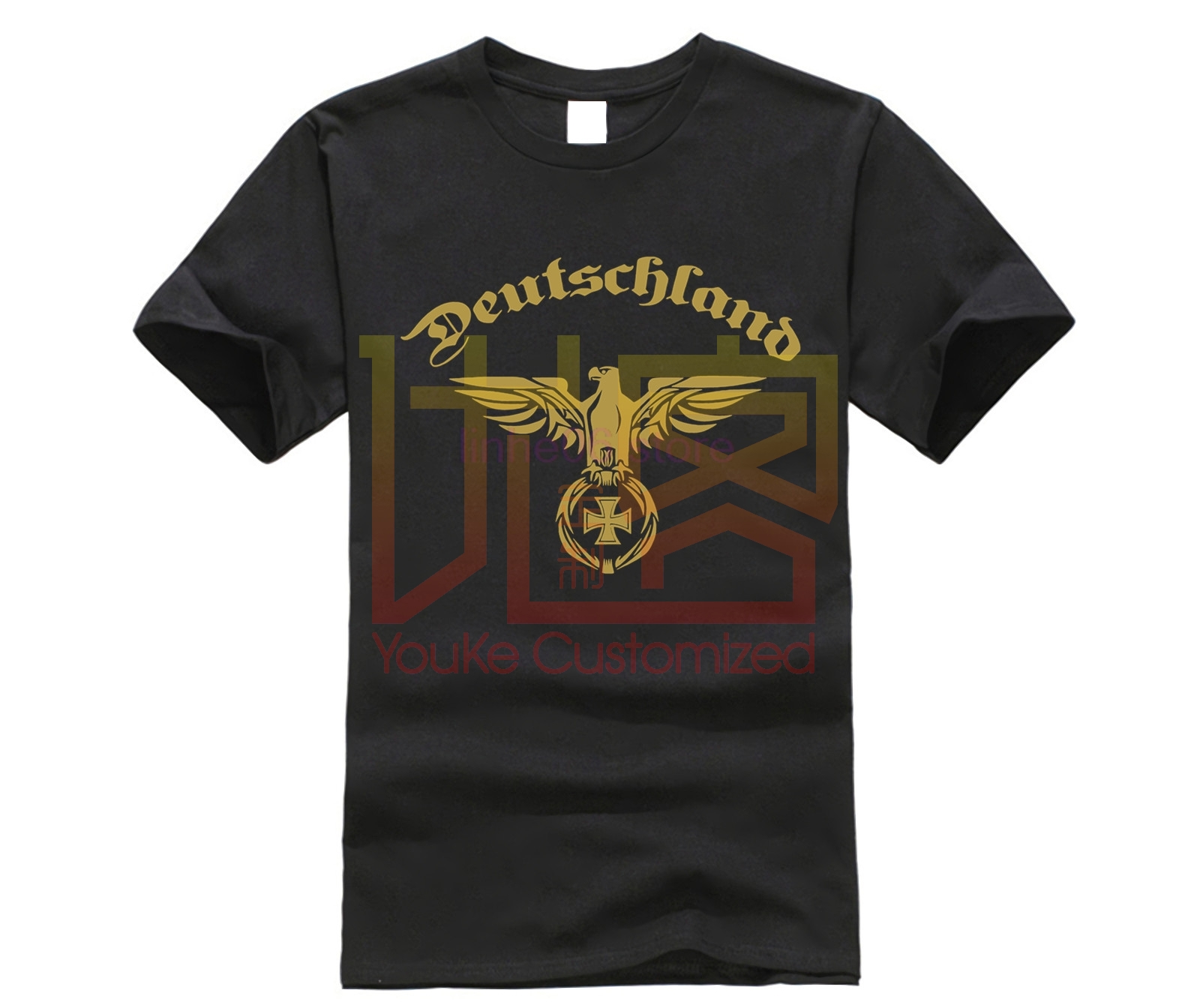 Deutschland Germany T-Shirt Golden Empire Eagle Cross T Shirt 2019 New 3D T Shirt Men Funny Tee Shirts Short Sleeve Funny Tees