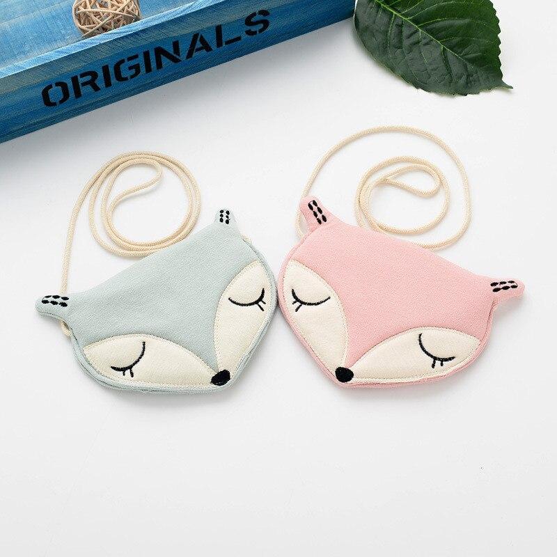 Lovely Children Shoulder Bag Coin Purse Cute Fox Messenger Bag Kids Accessories Little Grils Handbags Mini Clutch Crossbody Bags