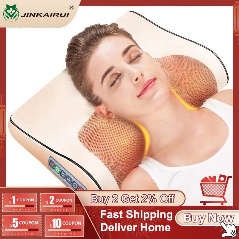 وسادة تدليك كهربائية, بالأشعة تحت الحمراء لتدفئة الرقبة والكتف، للجسم جهاز للعنق، واسترخاء صحي