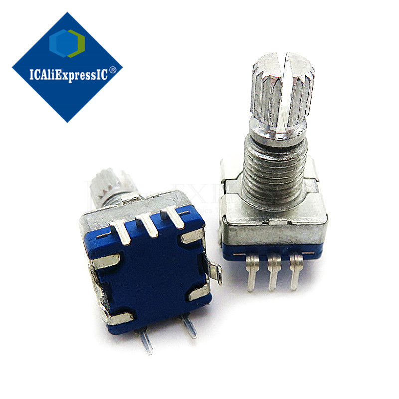 5 pièces prune poignée 15mm codeur rotatif commutateur de codage/EC11/potentiomètre numérique avec interrupteur 5 broches en Stock