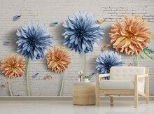 Xue su пользовательские обои роспись сейчас Простой 3d цветок