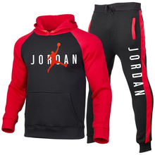 Autumn and Winter Sportswear Men's Two-Piece Hooded Pants Casual Sportswear Jogging Fitness Pullover 2021 New Brand Recommendati