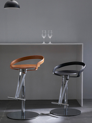 Modern Simple Fashion Bar Chair Leisure Creative Leather Restaurant Home Backrest Rotary Lift Bar Stool Bar Chair
