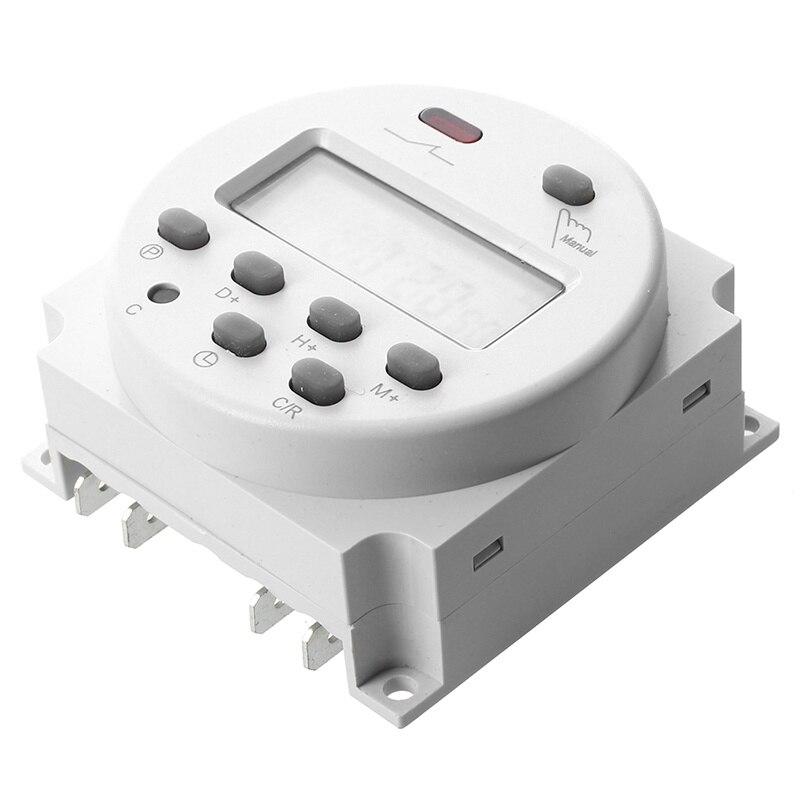 ¡Promoción! Nuevo LCD Digital Control de potencia programable temporizador cc 12V 16A interruptor de tiempo de relé SINOTIMER 5/12/220V semanal 7 días programable Digital Time Switch relé temporizador Control para electrodoméstico 8 Configuración de encendido/apagado