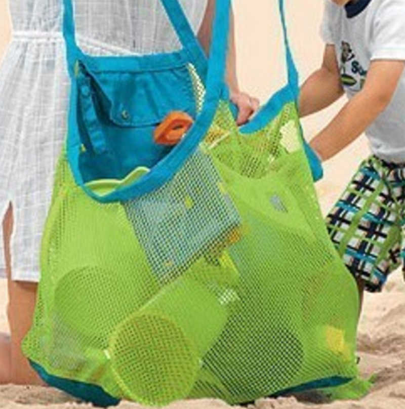 New Kids Baby Sand Away Carry Beach Toys Pouch Tote Mesh Large Children Storage Toy Collection Sand Away Beach Mesh Tool