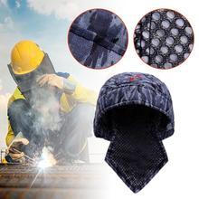 Welder Welding Protective Hat Welder Flame Retardant Cotton Safety Helmet Head Full Protection Hoods Welder Safety Cover welder safety gloves workplace safety supplies security