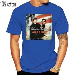 Modern Talking - America, album cover, 2001, T-SHIRT DTG Summer Short Sleeves Fashion T Shirt