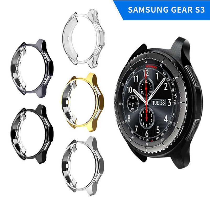 Silicone TPU Case For Samsung Gear S3/Galaxy Watch 42mm Watch Covers All-inclusive protective case Strap Accessories #a