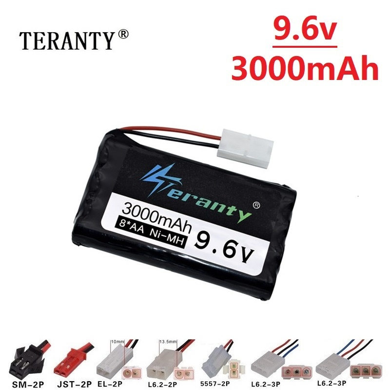 9.6v 3000mah Rechargeable Battery For Rc Toys Cars Tanks Robots Gun NiMH Battery AA 9.6v 2400mah Batteries Pack For Rc Boat 1PCS