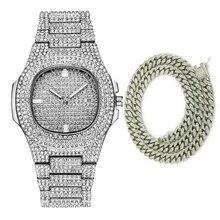 Hot Fashion Men Watches 2020 Luxury Diamond Watch Waterproof