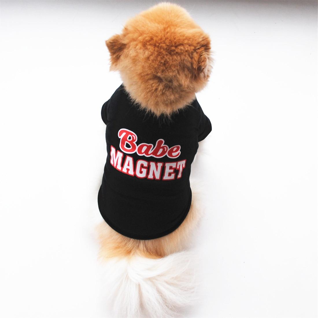 Весенняя одежда для собаки, удобный жилет для маленьких собак, кошек, с буквенным принтом, модная футболка со щенком для чихуахуа, бульдога, костюм для животных