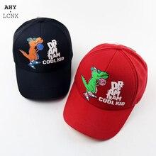 Korean Baby Baseball Cap Kids Hat for Children Autumn Boys Girls Cute Cartoon Cool Dinosaur