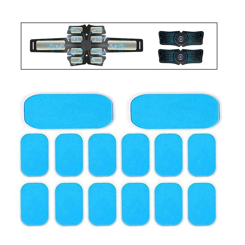14pcs Gel Pads For EMS Trainer Abdominal Gel Stickers Muscle Stimulator Exerciser Replacement Massager Gel Patch Accessories