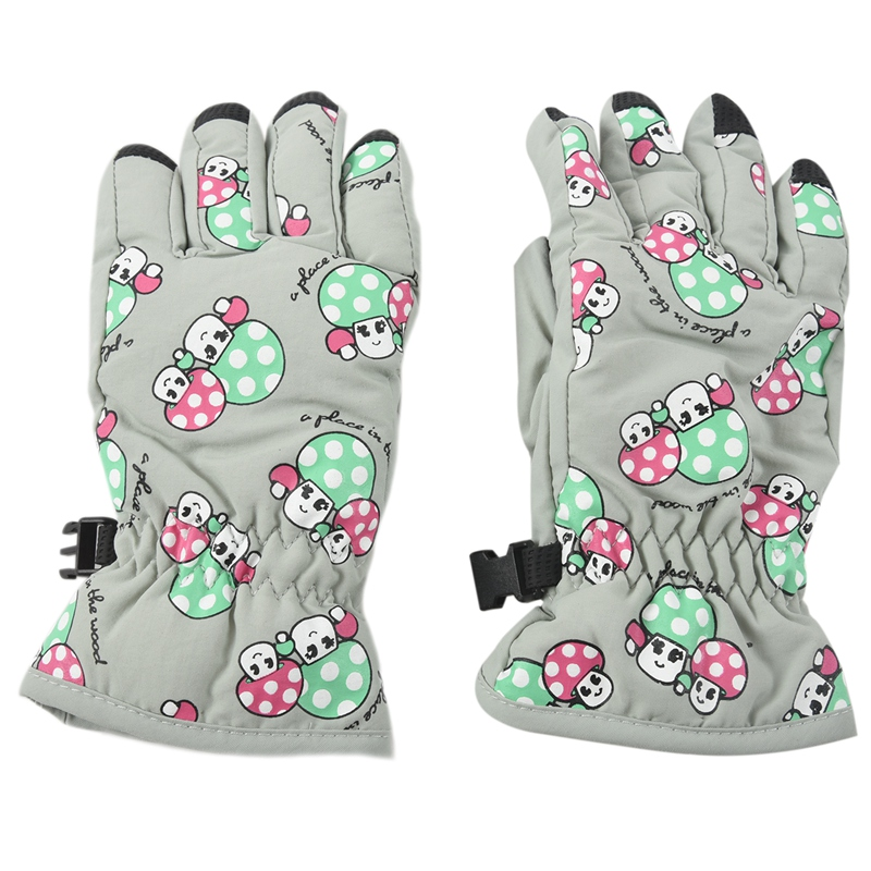 Non-slip, For 2-4 Year Old Children, Ski Skate Gloves (White Moon)