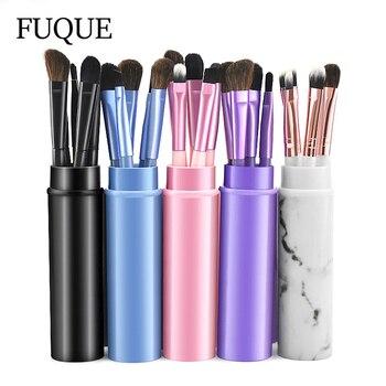 Portable 5pcs Makeup Brushes Set Marble Travel Mini Eye Makeup Brushes Set Pony Hair Eyeliner Eyebrow Lip Make Up Brush kit 1