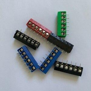 20 шт./лот kf301-6p соединения, винтовой Тип PCB расстояние 5,0 терминала, клемма медная ножка KF301 красный, зеленый, черный, синий