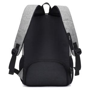 Image 4 - Mochila antirrobo para hombre, mochila escolar para ordenador portátil de lona para hombres, mochila para adolescentes, mochila escolar para adolescentes, mochila para hombre y Estudiante