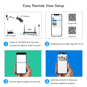 Image 3 - ANRAN System CCTV bezprzewodowy 1080P NVR z 2.0MP na zewnątrz wodoodporny kamera monitoringu wi fi System Night Vision zestaw do nadzorowania