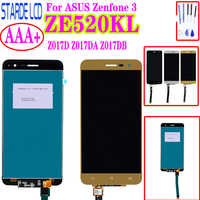 Starde 5.2'' LCD for Asus Zenfone 3 ZE520KL Z017D Z017DA Z017DB ZE 520KL LCD Display Touch Screen Digitizer Assembly with Frame
