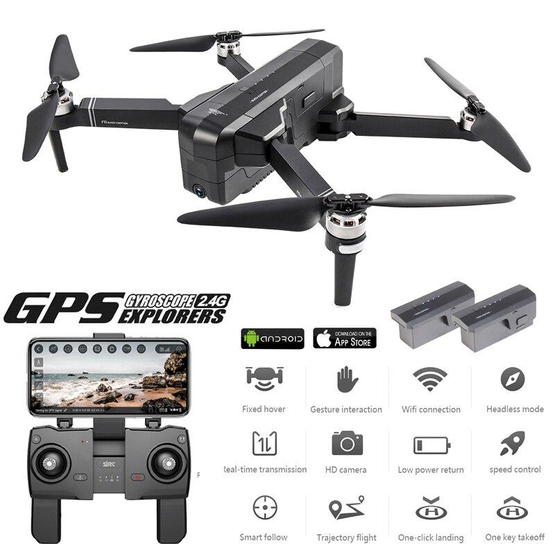 Zangão global 2 k dron sem escova com câmera 2 k hd siga-me quadcopter profissional gps drones vs fimi x8 se e520s f11 pro
