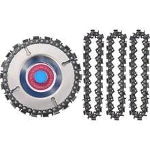 4 peças 5/8 Polegada escultura em madeira disco de corrente, 4 Polegada 22 dentes lâmina de serra com substituição circlets para moedor de disco corrente