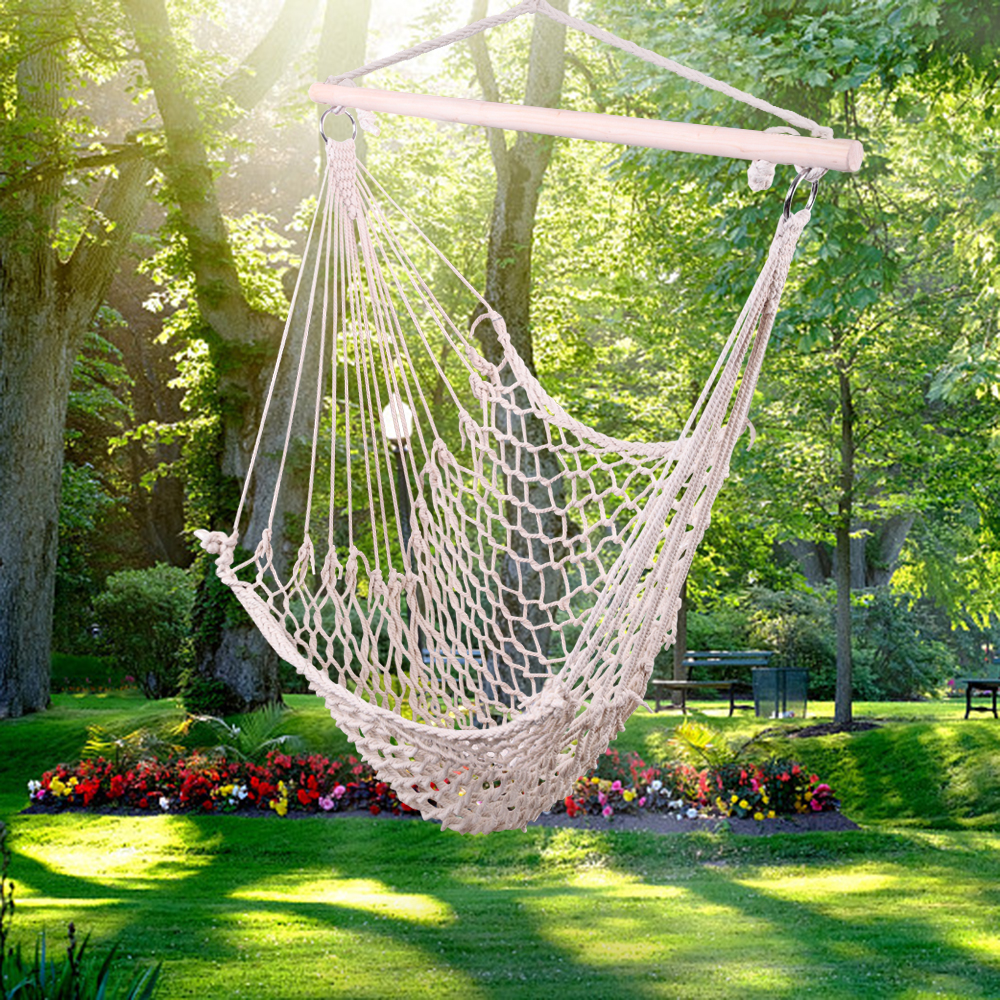 Garden Furniture Hanging Chair Hammock Rope Hanging Chair Seat Swing Chair For Indoor Outdoor Swing Chair
