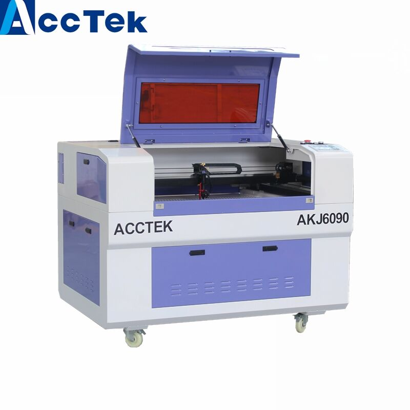 Jinan AccTek Water Cooling Pump 90w CNC Laser Engraving Machine AKJ6090 For Rubber Acrylic Wood Nonmetal Made In China
