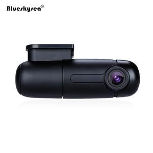 Image 2 - Blueskysea B1W داش كاميرا السيارة مزودة بجهاز تسجيل فيديو كامل HD 1080P واي فاي صغير داش كام 360 درجة تدوير وضع وقوف السيارات IMX323 لوحة سيارة مسجل
