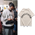 Sonntag ServIce Kanye West T-shirt Vintage Übergroßen Gedruckt T-shirts Männer Frauen Hüfte Hüfte Fremden Dinge T Streetwear