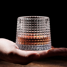Spinning Whisky Glass Whiskey Tumblers, Old Fashioned Scotch & Bourbon Glasses