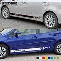 1 пара спортивные наклейки в полоску на дверь автомобиля для Toyota Prius TRD Prius C аксессуары