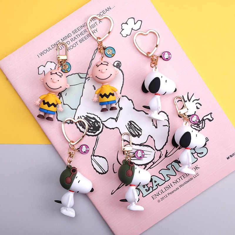 Fashion Cartoon Leuke Charlie Browm Sleutelhangers Snoopy Tas Sleutelhanger Hanger Voor Meisje Zak Sleutelhanger Gifts Kids Gift Sleutelhangers