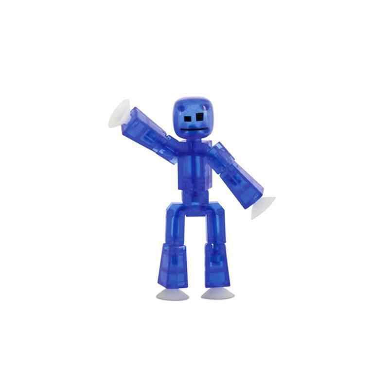 1PC Bonito Animal Pegajoso Deformável Robô Otário Ventosa Engraçado Vara Robô Figura de Ação Brinquedos para as crianças presentes