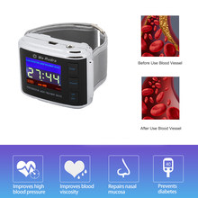 High Blood Pressure Diabetic Watch Multifunction Wrist Watch Pain Relief Rhinitis Diabetics Hypertension Laser Therapy Device