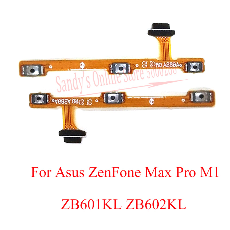High Quality Cellphone Power Volume Button Flex Cable For Asus ZenFone Max Pro M1 ZB601KL ZB602KL Power Volume Switch Flex Cable