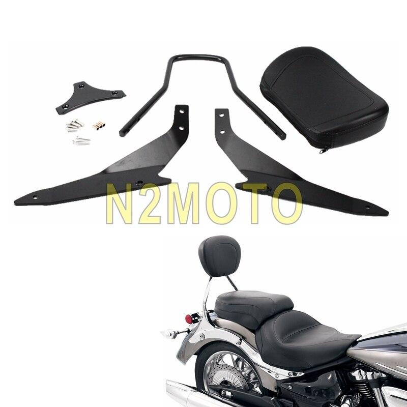 Motor Sissy Bar Backrest w// Luggage Rack For Suzuki Boulevard M109R 2006-2015 14