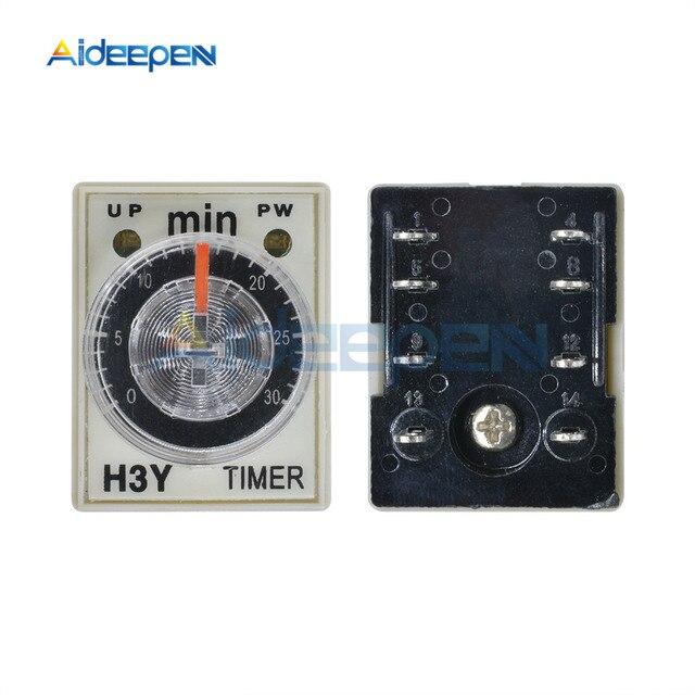Relais de minuterie de H3Y-2 DC 12V 0-30 seconde 0-30 minuterie de retard 12VDC relais de temps avec prise de Base