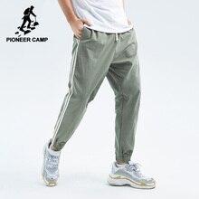 파이어 니어 캠프 2020 봄 여름 새로운 캐주얼 바지 남성 면화 슬림 맞는 패치 워크 패션 바지 남성 브랜드 의류 AXX901043