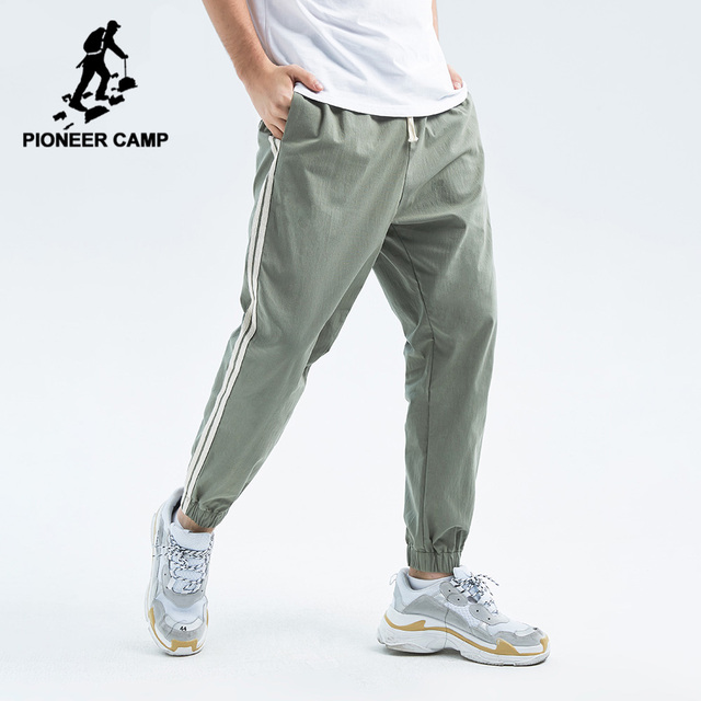Pioneer Camp 2020 Spring Summer New Casual Pants Men Cotton Slim Fit Patchwork Fashion Trousers Male Brand Clothing AXX901043