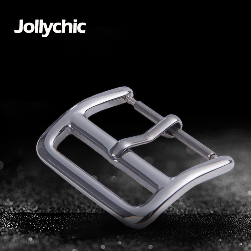 50pcs DIY For Samsung/Apple Watch Band Buckle 18mm 20mm 22mm Button Stainless Steel Silver Polished Watchband Pin Belt Buckles