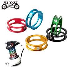 цена на MUQZI Bicycle bowl washer 28.6MM aluminum alloy front fork washer Mountain bike road bike folding bike