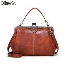 DIINOVIVO Vintage PU Leather Bags Women Handbags High Quality Crossbody For Shoulder Bag Leisure Purses Tote WHDV1218