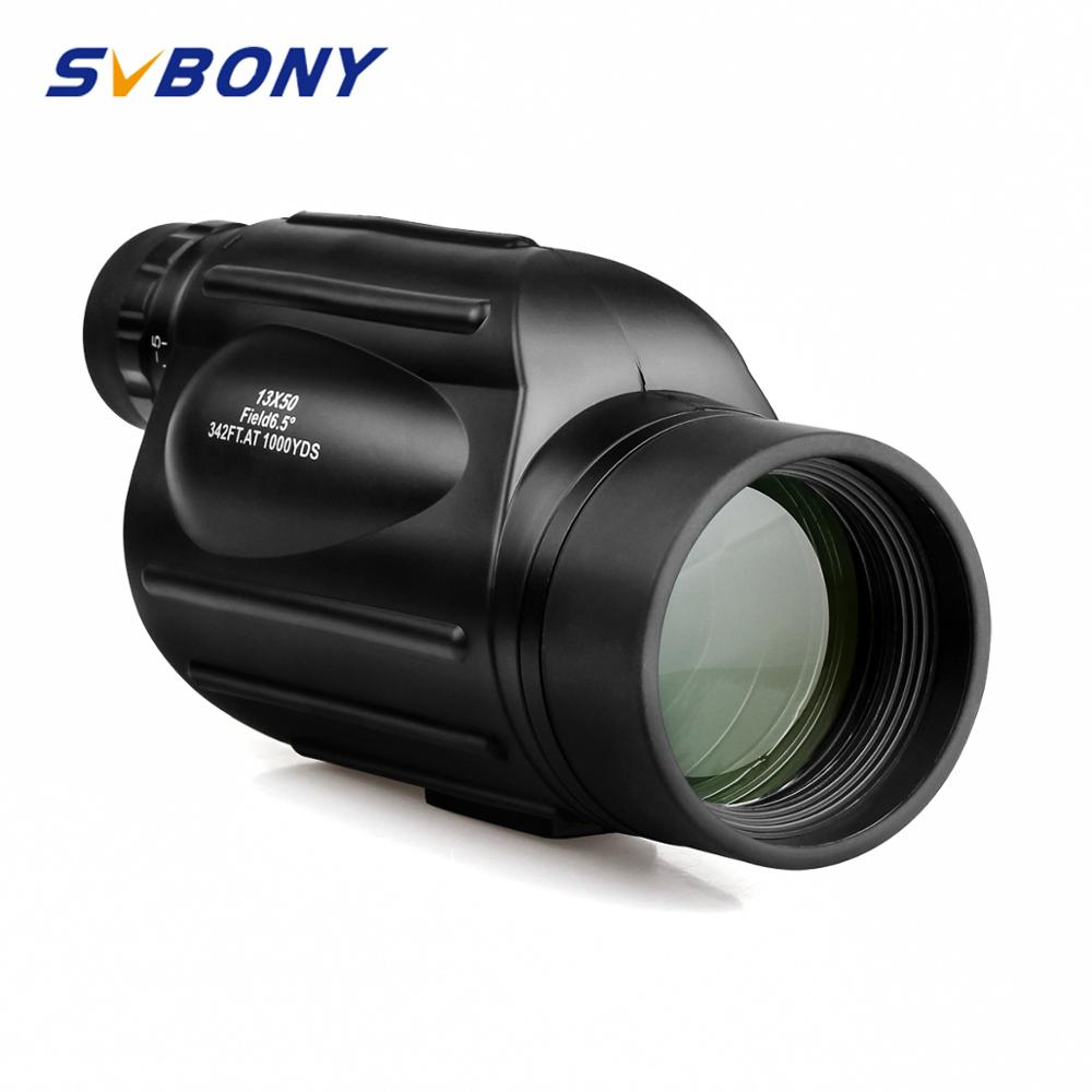 Svbony SV49 Monocular 13x50 Alça de Mão de Alta Ampliação Telescópio À Prova D' Água para Caminhadas Caça Camping Birdwatch F9342