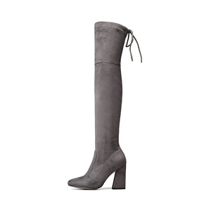 Image 2 - QUTAA 2020 Women Over The Knee High Boots Short Plush Inside Keep Warm Winter Fashion Sexy Hoof Heels Women Boots Size 34 43