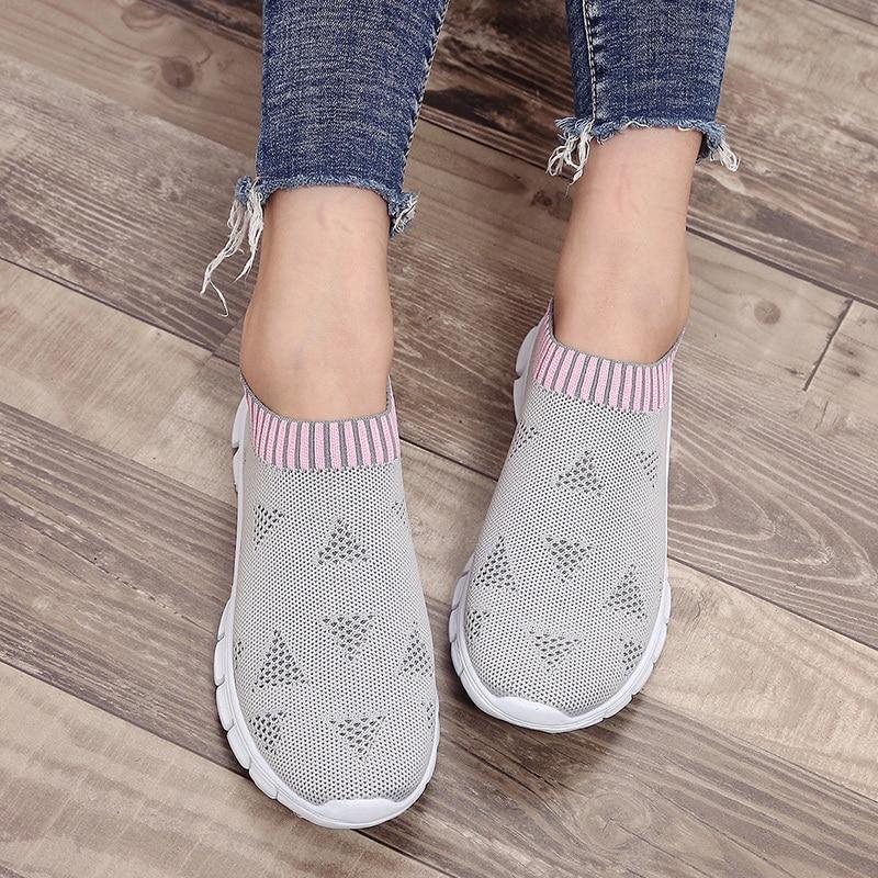 Respirável sapatos de condução casual malha moda feminina sapatos de caminhada senhoras esporte ao ar livre tênis feminino sapatos de dança tamanho 35-43