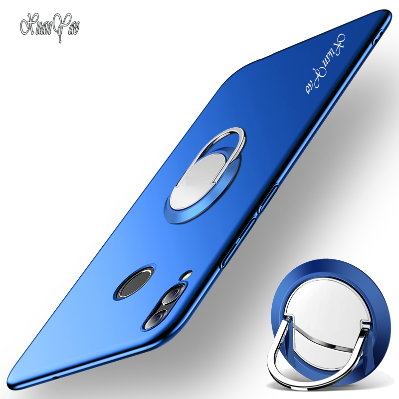 <font><b>P</b></font> <font><b>Smart</b></font> 2018 Case XUANYAO Finger Ring Slim Frosted Cover For Huawei <font><b>P</b></font> <font><b>Smart</b></font> Plus 2018 Case Matte Metal Stand Hard <font><b>P</b></font> <font><b>Smart</b></font> Plus image