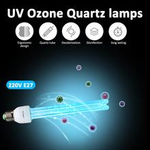 UV Sterilizer Lamp E27 20W Quartz Bactericidal Disinfection Ozone  Light Home Kill Mite Sterilization Ultraviolet Tube Lamps