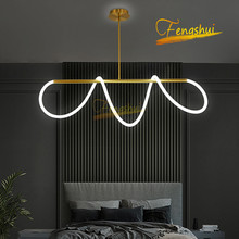 Modern Minimalist LED Ring Pendant Lamp Lighting Nordic Creative Note LOFT Pendant Lights Bedroom Dining Room Living Room Lamps nordic wrought iron round led pendant lamp lighting modern creative pendant lights bedroom dining kitchen living loft room lamps