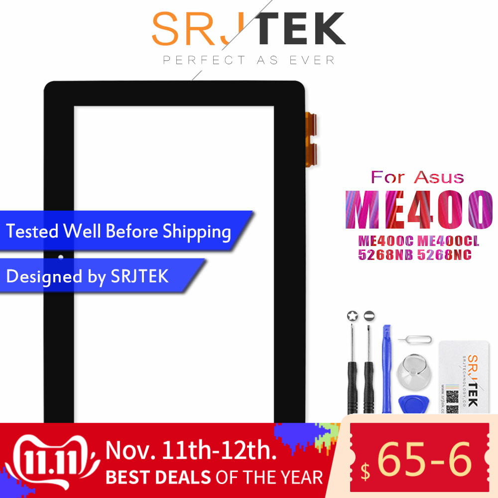 """Original For 10.1"""" for ASUS VivoTab Smart ME400C ME400CL ME400 5268NB 5268NC Digitizer Touch Screen Glass Panel Lens Replacement"""